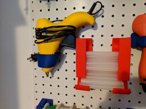Hot Glue Peg Board Mount