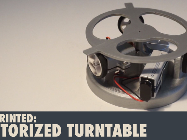 3d Printed Motorized Turntable By Diodepress Thingiverse