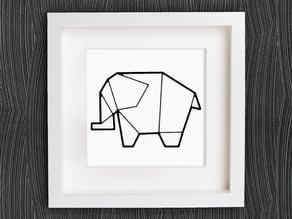 Customizable Origami Elephant No. 2