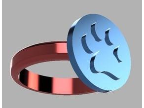 Ring - Paw Print