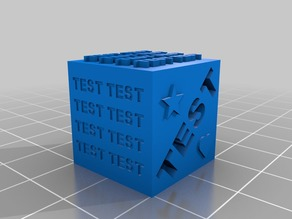 My Own 3D Printer Test Cube for Benchmark