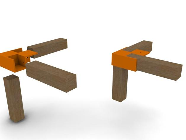 Table corner joint by votoos thingiverse for Table joints