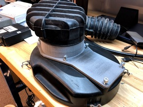 Adapter to use a Volvo 240 Kjet airbox in stock location for an LH fuel injection +T project