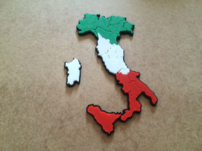 Italy map puzzle