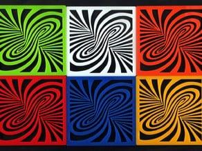 TWIRL POP ART acrylic design lasercut