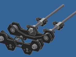 True variable width spool Holder
