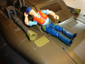 1980's GIJOE KILLER Whale Gun Tip