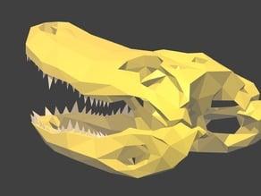 Low Poly Alligator Skull