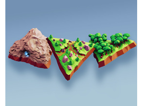 Low Poly Fantasy World - Base Tiles