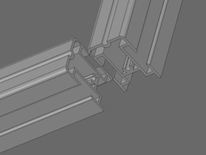 Odd Extrusion Profile Panel from Office Partitioning System