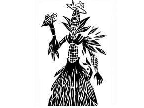 Corn Demon stencil