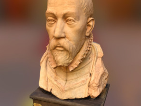 Bust of a nobleman in armour and a ruff