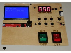 RepRap GLCD & digital power meter panel for K40 cheap chinese laser cutter
