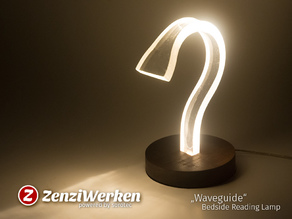 """Waveguide"" Bedside Reading Lamp cnc"