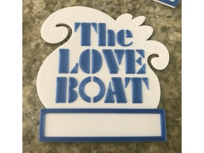Multimaterial Loveboat Name Tag