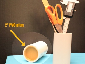 "2"" PVC plug for vertical storage"