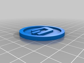 Dash Coin 40x3mm digital crypto currency