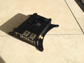 Raspberry Pi Case Top / hole for button or switch