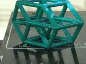 tesseract 4.25 x 4.25 x 5.00 inch