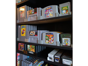 Video Game Cartridge Stands for DVD Shelves