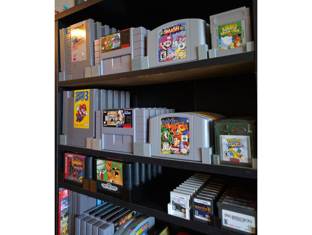Video Game Cartridge Stands For Dvd Shelves By Sigismond0