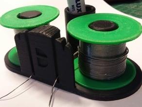Dual solder rolls holder