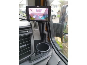 Transt custom reversing monitor holder RHD