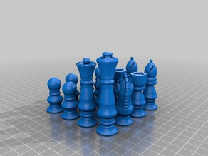 My Customized Chess. Set of sets  - All OPENSCAD - All Random