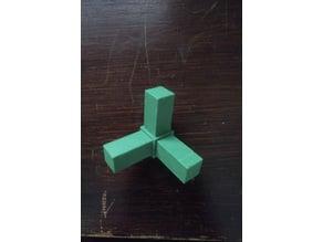 10x10x1 jäkl profile connector (90°)