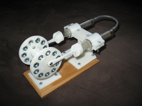 3D printed alpha Stirling engine #2