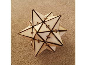 Small Stellated Dodecahedron - Laser Cut