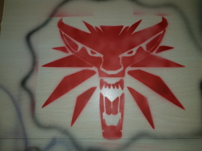 The Witcher Wolf Airbrush Stencil