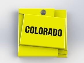 Colorado Map Keychain