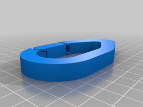 One print movable carabiner - mosqueton