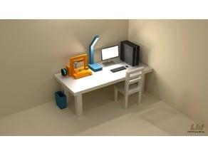 Low Poly 3D Printer Playset