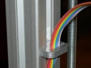 T-slot cover and wire clips for Aluminum Mendel