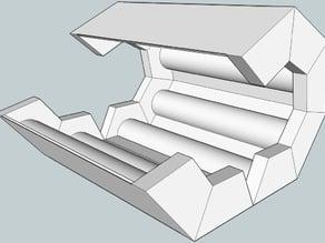 Print Flat - Roll Into 3D, Heptagonal Column