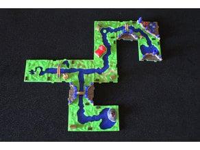 RifRaf 3D Carcassonne The River 2 II Game Tiles