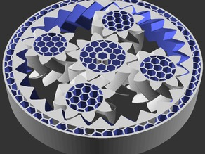 Herringbone Planetary Gear/Bearing (Optional HoneyComb) (Customizable)