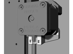 Prusa X-axis motor cable strain relief
