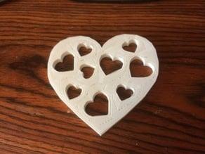 St. Valentine day cup coaster