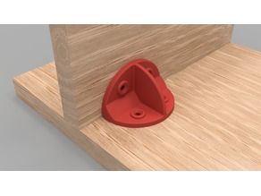 Rounded Furniture Bracket (90 degree)