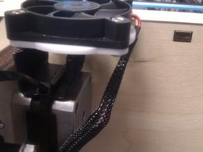 Ultimaker extruder stepper fan holder