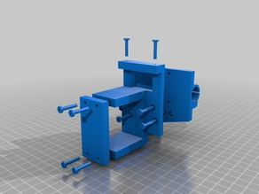 Prusa i3 X carriage with MK8 extruder clamp