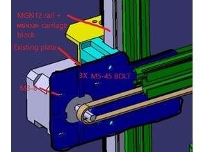 Adimlab Z axis linear rail mod
