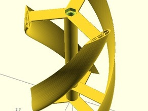 Parametric helical Darrieus vertical axis wind turbine - Mk2