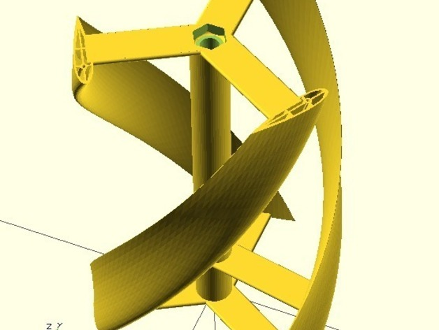 Parametric helical Darrieus vertical axis wind turbine - Mk2 by ...