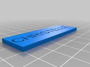 My Customized Name Plate - Board Game Box Organizer
