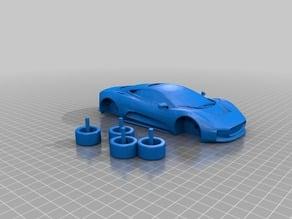 Jaguar XJ220 w/working wheels