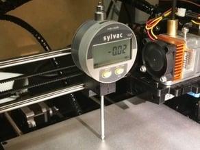 Measuring clock holder for Prusa I3